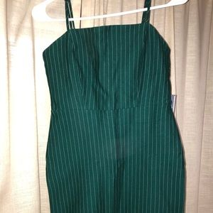Green and White Striped Forever 21 dress